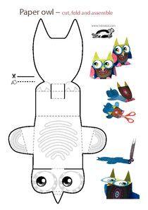 printables for kids Owl Crafts, Animal Crafts, Preschool Crafts, Crafts For Kids, Arts And Crafts, Paper Crafts, Projects For Kids, Diy For Kids, Paper Owls