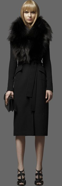 ELIE SAAB -  GORGEOUS wool/ faux fur suiting.