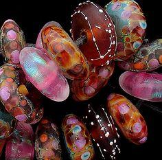 DSG Beads Handmade Organic Lampwork Glass Forest Fairies | eBay