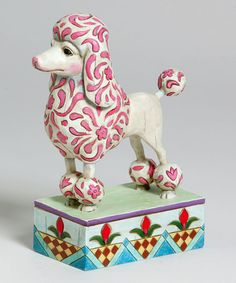 Take a look at this Poodle Figurine by Jim Shore on #zulily today!