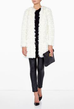 Micheal Kors Cream Faux Shearling Fur Jacket Coat Small UK 8-10 US4 New  for sale on eBay, ends today!