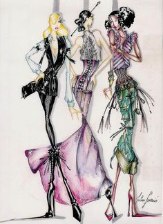 Fashion Illustration by Julien Fournie by fashionreporters, via Flickr| Be Inspirational ❥|Mz. Manerz: Being well dressed is a beautiful form of confidence, happiness & politeness