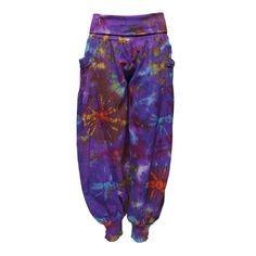 Tie Dye Foldover Harem Pants