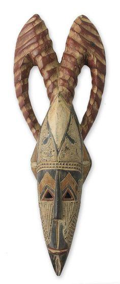 Antique Horn Style African Mask - Love Totem | NOVICA