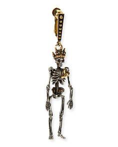 Queen+Skeleton+Clip-On+Dangle+Earring+by+Alexander+McQueen+at+Neiman+Marcus.