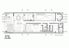 Jazzy Beach House in Breezy Look: Excellent Floor Plan Design Of Contemporary House In Palabritas Beach With Open Plan Living And Dining Con. Villa, Open Plan Living, Plan Design, Resident Evil, House Floor Plans, Outdoor Pool, Architecture, Beach House, Swimming Pools