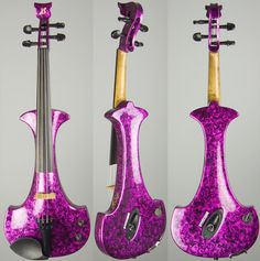 Purple electric violin