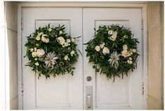 Southern Productions is a Meridian, Mississippi based Wedding Planner and Florist Greenery Wreath, Floral Wreath, Floral Wedding, Wedding Flowers, Meridian Mississippi, Wedding Doors, Christmas Yard, Wedding Wreaths, Air Plants