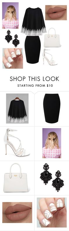 """Act like a Lady, Think like a Boss"" by lvcph ❤ liked on Polyvore featuring Jacques Vert, Steve Madden, Prada and Tasha"