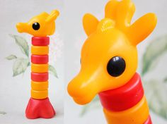 USSR Giraffe Stacking Toy / Soviet Vintage by LittleMonstersStore