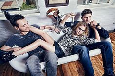 . @Caradelevingne hangs out with the boys in a new campaign for @pepejeans http://uk.bazaar.com/1hzb03H pic.twitter.com/VOSSDORU8O