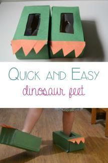 Quick and Easy Dinosaur Feet - Rainy Day Mum
