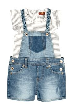 Ruffle Top & Braided Overall Set (Baby Girls) by 7 For All Mankind on @nordstrom_rack