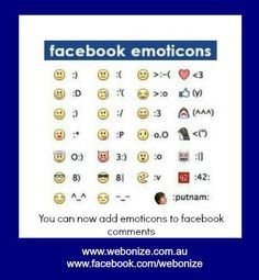 facebook shortcut keys for symbols emoticons | Keyboard Shortcuts ...