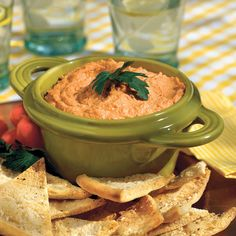 Red Pepper Hummus - Ready-to-Serve Tailgating Recipe Ideas - Southern Living