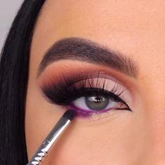 eye makeup using lipstick videos & eye makeup using lipstick . eye makeup using lipstick videos . simple eye makeup using lipstick . eye makeup using liquid lipstick . red eye makeup using lipstick Makeup Eye Looks, Eye Makeup Steps, Beautiful Eye Makeup, Smokey Eye Makeup, Eyebrow Makeup, Eyeshadow Makeup, Matte Eye Makeup, Cut Crease Eyeshadow, Purple Eye Makeup