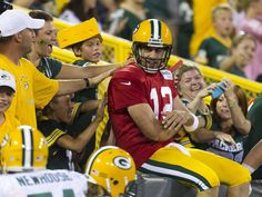 Green Bay Packers Family Night: Notes, Thoughts, and Observations Go Packers, Packers Football, Best Football Team, National Football League, Green Bay Packers, Football Helmets, Football Baby, Aaron Rogers, Forty Niners