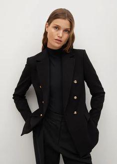 Sale for Women 2021 | Mango USA Blazers For Women, Jackets For Women, Preppy Boys, Ralph Lauren Blazer, Mango France, Tailored Jacket, Double Breasted Blazer, Work Looks, Fashion Updates