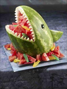 Shark fruit bowl