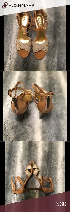 Ann Taylor Loft Strappy Leather Heels EUC Ann Taylor Loft Strappy Leather Heels EUC - They have been worn maybe once, they are in amazing condition and are just so cute!!! LOFT Shoes Heels
