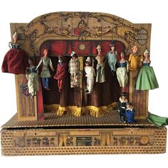Early1900's Italian Toy Commedia dell'arte Puppet Theater Box
