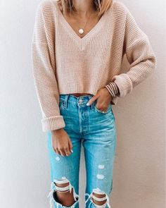 Cute Fall Outfits, Fall Winter Outfits, Trendy Outfits, Fashion Outfits, Earthy Outfits, Modest Outfits, Look Cool, Everyday Outfits, Long Sleeve Sweater