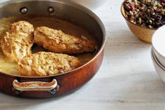Chicken With mustard sauce- Jacques Pepin