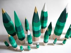 hand-painted christmas trees #holidaydecor