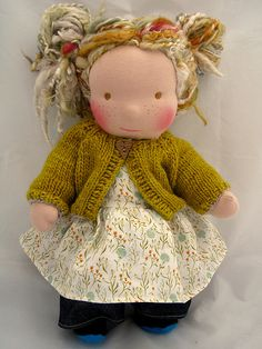 If I were to exist in doll form...    Waldorf doll with blond mohair by TumbleberryToys, via Flickr