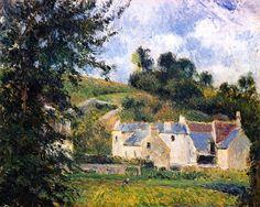 Houses of l'Hermitage, Pontoise Camille Pissarro - 1879