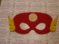 Flash or Reverse Flash inspired felt mask for dress up or Halloween Costume Pretend Play Imagination Education party favor by TinyCrafts on Etsy Dress Up Closet, Reverse Flash, Felt Mask, Pretend Play, Mask Design, Little Ones, Party Favors, Party Themes, Imagination