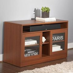 """TV Stand 47"""" Cherry, $229, now featured on Fab."""
