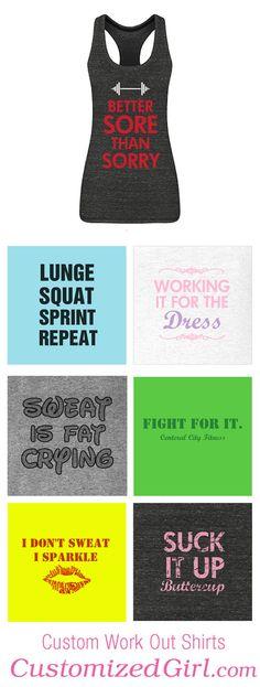 Custom Workout Shirts #workout #tanktops