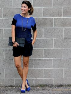 NEED Blue Jcrew Sweater $80 via blog: Marionberry Style