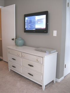 Hide wires to the tv.