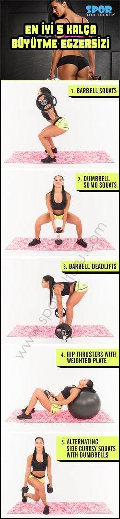 En iyi 5 kalça büyütme egzersizi