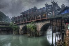 Feng Huang II,a little town in SW China | HDR creme