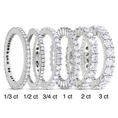 Miadora White Gold to TDW Diamond Eternity Ring Eternity Ring Diamond, Eternity Bands, Diamond Bands, Diamond Wedding Bands, Diamond Jewelry, 1 Karat, Wedding Jewelry, Wedding Rings, Womens Wedding Bands
