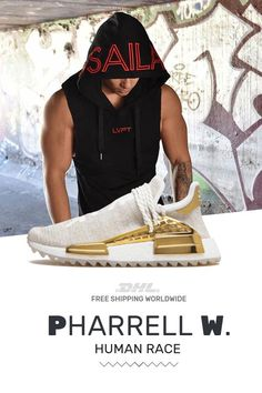 How to get cheap Human Race Adidas HU Holi Gold Happy trainers Rare Sneakers, Sneakers Fashion, Fashion Shoes, Shoes Online, Shoes Sport, Pharrell Williams, Woman Style, Bape
