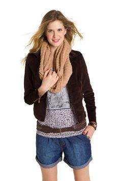 Hering Inverno - cinto com cintura baixa + cachecol