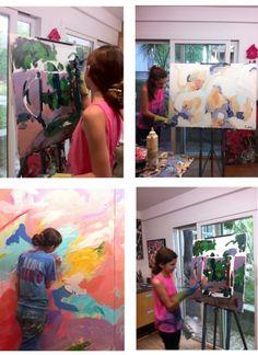working in my studio