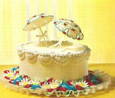 This umbrella cake is perfect for a bridal shower.