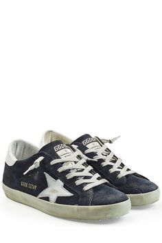 GOLDEN GOOSE Super Star Leather And Suede Sneakers. #goldengoose #shoes #