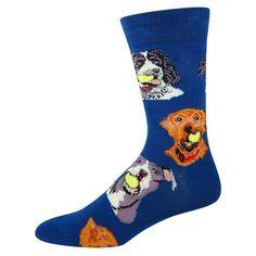 1f2595a51e24 Ball Dog Men's Crew Socks-Crew Socks-Socksmith-sock-culture Dog Socks