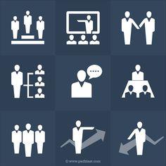 Human Resources Icons Set (PSD)