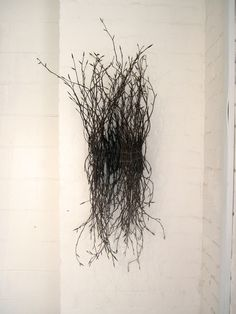 Twig cocoon unfurling Wire Flowers, Artistic Installation, Book Sculpture, Sticks And Stones, Land Art, Abstract Flowers, Wire Art, Natural Materials, Contemporary Art