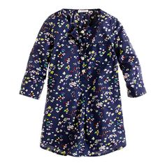 GIRLS' POCKET TUNIC IN VINTAGE FLORAL PRINT  ooooh, fun! size4? not sure -crewcuts-  $55.00