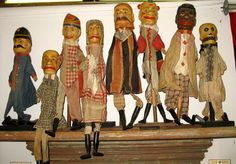 19th C French Marionette Set