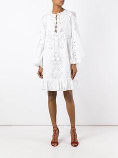 Roberto Cavalli Платье с Цветочным Узором - Farfetch