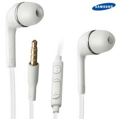 2 Pack: Samsung Tangle-Free Stereo Headsets with Inline Mic & Volume Key - White at 82% Savings off Retail!